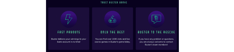 buster banks casino bonus