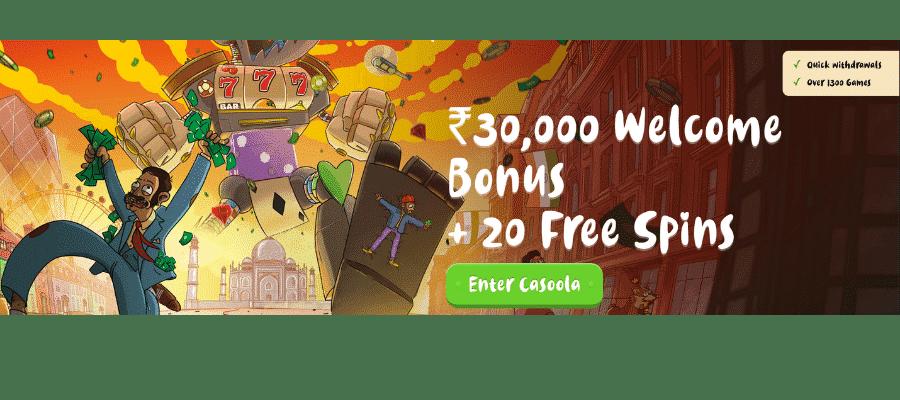 Casoola Casino bonus india