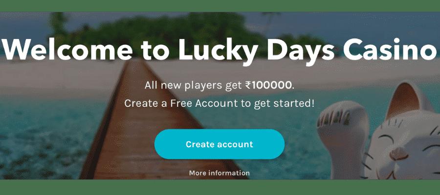 lucky days casino India