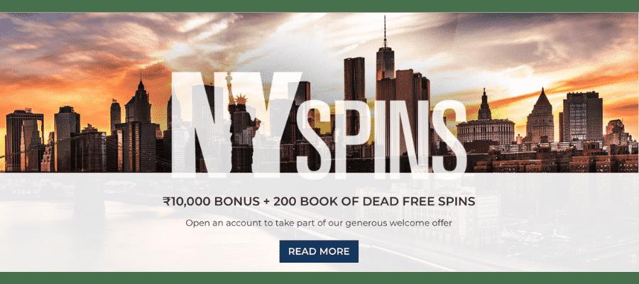 Ny Spins India bonus