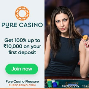 Teen Patti dealer at Pure Casino
