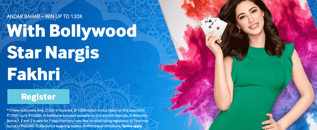 Betway legal in India with Bollywood star Nargis Fakhri