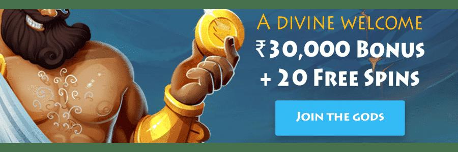 casino gods welcome bonus